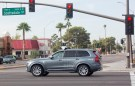 A self driving Volvo vehicle, purchased by Uber, moves through an intersection in Scottsdale, Arizona, U.S., December 1, 2017.  Photo taken on December 1, 2017.  REUTERS/Natalie Behring - RC1E3A697300